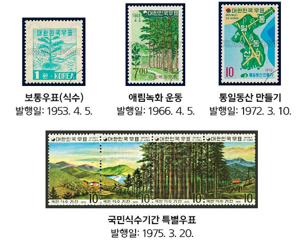 식목일 관련 우표