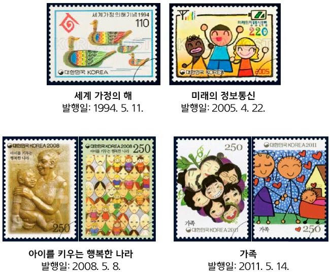 5월 기념일과 관련된 우표